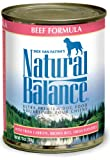 Natural Balance Beef and Brown Rice Formula for Dogs (Pack of 12 13-Ounce Cans)
