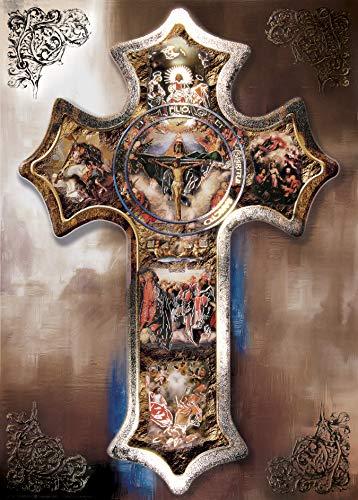 Cross Divine Providence Jesus - Religious Wall Art Print Poster - Prints Religious