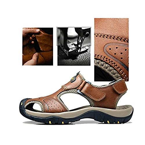 2b47b6c5f0a9 30%OFF Yahao Men s Leather Covered Fisherman Sandals