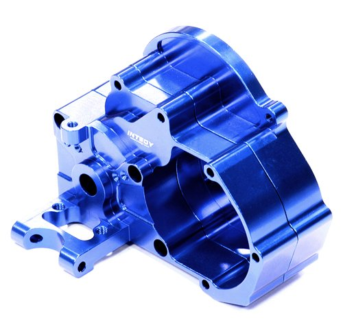 Integy Hobby RC Model T8098BLUE Evolution Alloy HD Gearbox for 1/10 Slash 2WD, Electric Stampede 2WD and Rustler