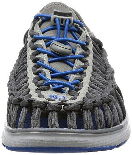 Keen Men's Uneek o2-m Sandal Neutral Gray/Imperial Blue 8sGPa