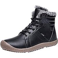 Jiasuqi Unisex Outdoor Waterproof Winter Snow Boots (Black)