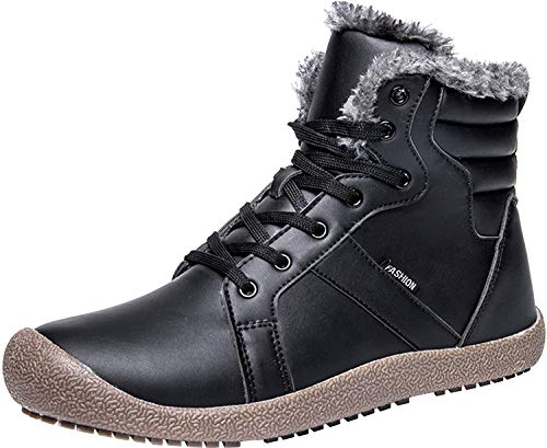 JIASUQI Ankle Short Snow Black Winter Women's Shoes Fur Waterproof Boots ZrBZfqgw