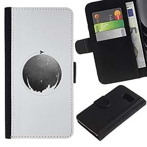 All Phone Most Case / Oferta Especial Cáscara Funda de cuero Monedero Cubierta de proteccion Caso / Wallet Case for Sony Xperia Z3 Compact // Moon Circle