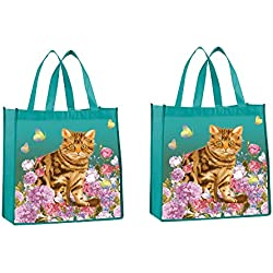 a68d7793aa3 Cat Tote Bag - Reusable Shopping Bag, Heavy Duty, Eco-Friendly Garden Cat