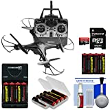 Vivitar DRC-120 Camera Aerial Quadcopter Drone (Black) 16GB Card + Battery + Charger + Kit