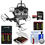 Vivitar DRC-120 Camera Aerial Quadcopter Drone (Black) with 16GB Card + Battery + Charger + Kit