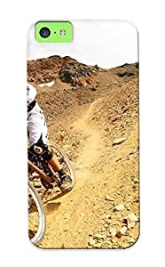 Forever Collectibles Downhill Biker Hard Snap-on Iphone 5c Case With Design Made As Christmas's Gift