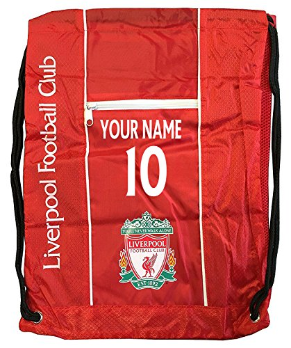 Liverpool Cinch Bag Sack Backpack Book Bag Add Your Name and Number ()