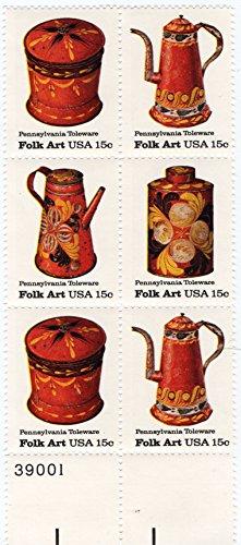 Stamps Folk Art (U. S. Stamp 1979 Scott 1775 American Folk Art Series Tolewear)