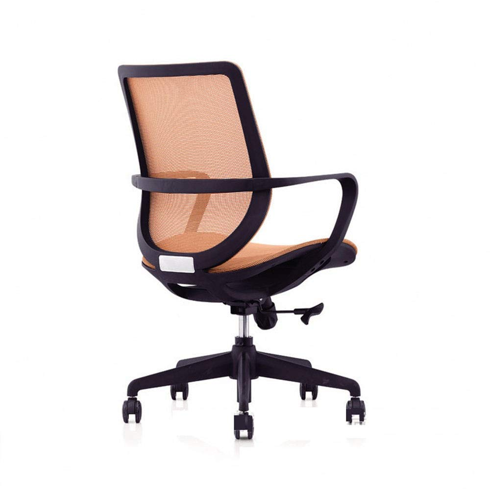 KIMIBen-HC Office Chair Direct Set of Swivel Computer Desk Task Chair Ergonomic Mid Back Mesh Office Chair Human Body Design Waist Support Chair (Color : Orange, Size : 566889cm) by KIMIBen-HC (Image #2)