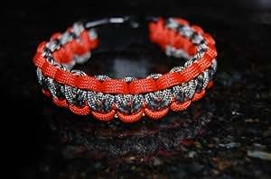 "New! (Medium) 8"" 550 Paracord Bracelet ""ACU Camo. and Burnt Orange"""