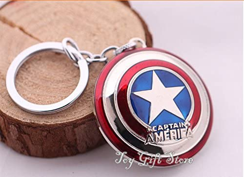 Hyland Authentic Store Super Hero Captain America Shield Metal Keychain Pendant Key Chains