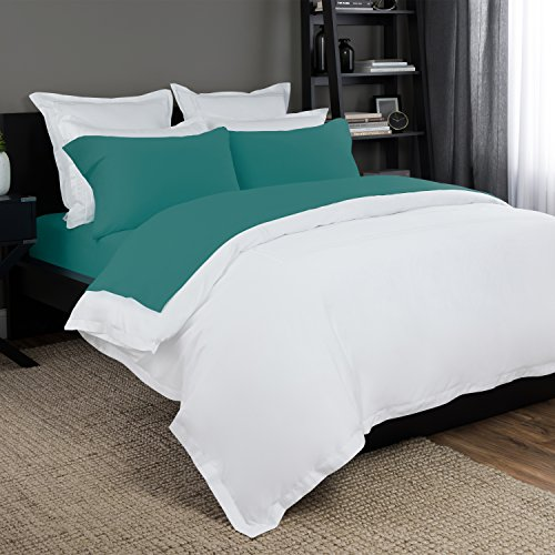 Briarwood Home 150 GSM Solid Jersey Deep Pocket Bed Sheet Set, 100% Soft & Stretchy Jersey Cotton Bed Sheets (Twin XL, Teal)
