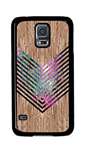 Samsung Galaxy S5 Case, S5 Cases - Wood Nebula Chevron Ultimate Protection Scratch Proof Soft TPU Rubber Bumper Case for Samsung Galaxy S5 I9600 Black