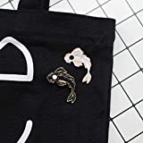 GuassLee Enamel Lapel Brooches Pin Set- 2pcs Lovely Black and White Fish Brooch, Cute Cartoon Pins for Backpacks Clothes Bags Jackets Hat Jewelry DIY Accessories