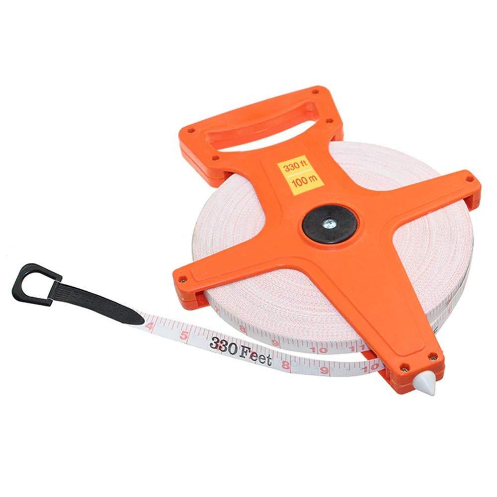 300 Foot Open Crank Reel Face Surveying Sports Fiberglass Tape Measure Measuring