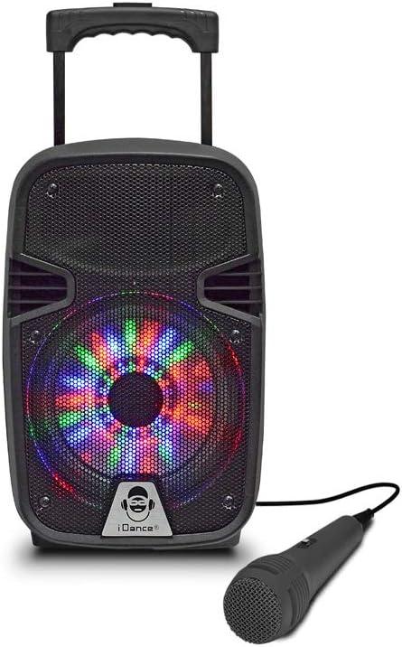 Altavoz Maleta IDANCE Groove 214MK2 Color Negro, Bluetooth, Woofer con Luz