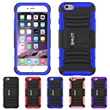 iPhone 6S Plus Case, iPhone 6 Plus Case, HLCT Rugged Shock Proof Dual-Layer Case with Built-In Kickstand (Blue)