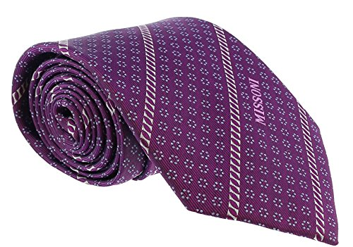- Missoni Micro Floral Purple Woven 100% Silk Tie for mens