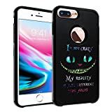 Cheshire Cat Quotes iPhone 7 Plus Case, IMAGITOUCH 2-Piece Style Armor Case with Flexible Shock Absorption Case Cover for iphone 7 Plus - Alice in Wonderland Cheshire Cat Quotes Hybrid