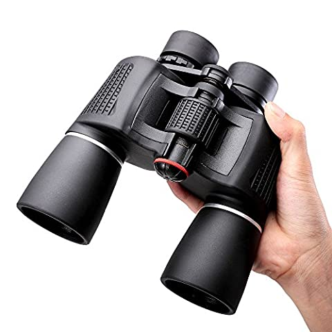NOCOEX 10x50 Super High-Powered Porro Prism Binoculars - for Bird Watching and Hunting - Black Color