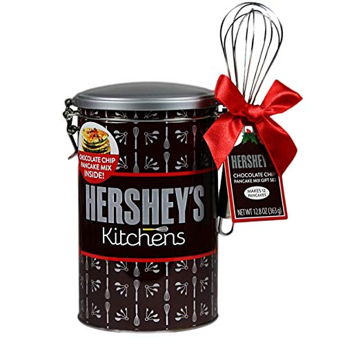 Hershey's Kitchens Tin with Chocolate Chip Pancake Mix and Whisk Gift Set