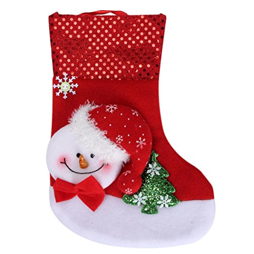 AIMTOPPY Red Snowman Gift Socks Gift Bags Christmas Candy Bag Christmas Party Decoration (Red) (Snowman Make Up)