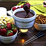 Home Essentials Home Essentials & Beyond 73024 White Chocolate Fondue Set In Color Box 5 D in., White