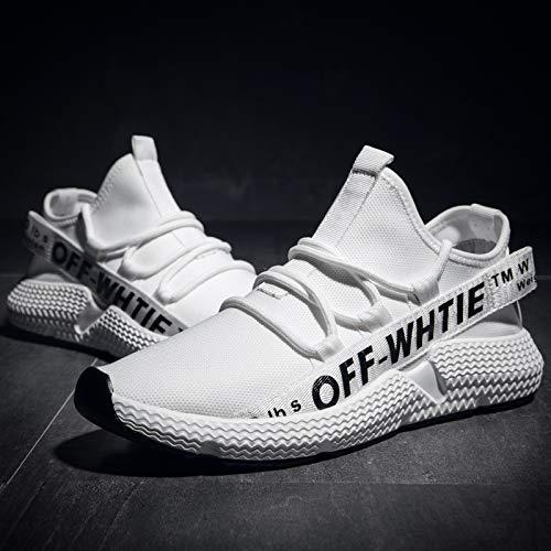 EAOJRSCSA Atmungsaktives Mesh Schuhe Flut Schuhe Mode Weiße Schuhe Männer Trend Lässige Sport Wilde Laufschuhe