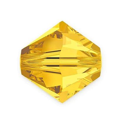 09cdf6bdf Amazon.com: 100pcs 3mm Adabele Austrian Bicone Crystal Beads Light Topaz  Compatible with Swarovski Crystals Preciosa 5301/5328 SSB308: Everything  Else