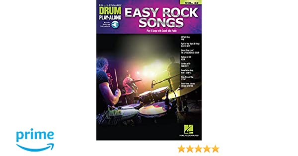 Easy Rock Songs: Drum Play-Along Volume 42: Hal Leonard Corp