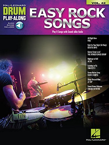 Easy Rock Songs: Drum Play-Along Volume 42