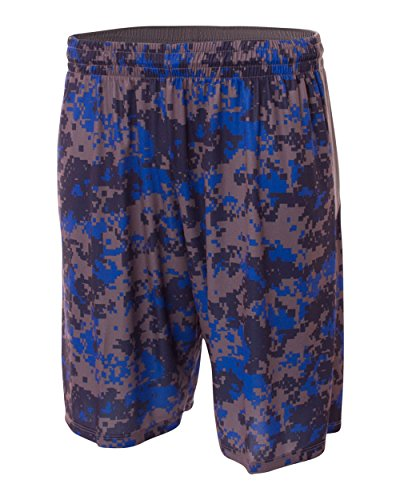 Royal Blue Youth Small CAMO Moisture Wicking Athletic Shorts