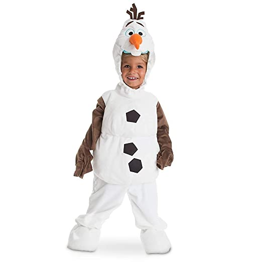 fa964d93414b Amazon.com  Disney Store Deluxe Frozen Olaf Plush Halloween Costume for  Kids All Sizes  Clothing