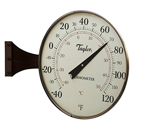 Taylor Heritage Metal  Dial Thermometer, 8.5-Inch