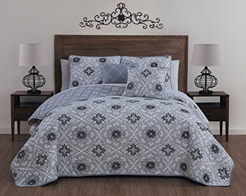 white and black quilt - 9