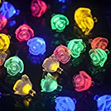 Patio Lawn Garden Best Deals - M&T TECH 30 LED Outdoor Christmas String Lights For Garden Patio Lawn Party Fence Window-Multi Color