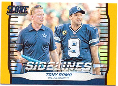 Tony Romo, Jason Garrett 2016 Score Sidelines Gold #16 - Dallas Cowboys