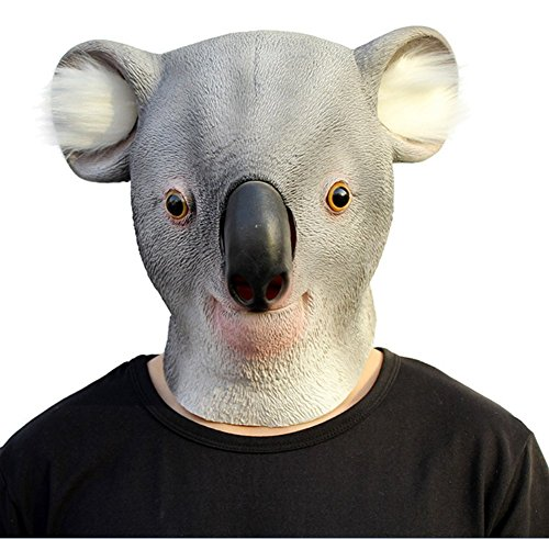 QTMY Latex Rubber Animal Koala Mask for Halloween Party (Jeepers Creepers Mask Halloween)