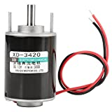12/24V 30W Permanent Magnet Motor Hollow Shaft DC Motor Electric Brushed Motor Speed Adjustable CW/CCW (12V 3000RPM)