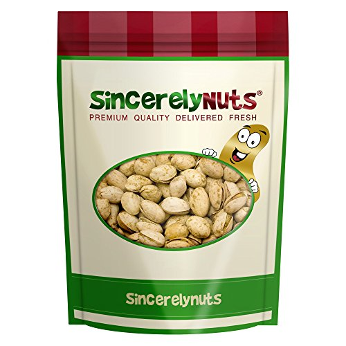 Sincerely Nuts Jalapeno Pistachios in Shell - Three Lbs. Bag - Spicy, Delicious & Crunchy - Maintains Heart Health & High In Dietary Fibers - Kosher ()