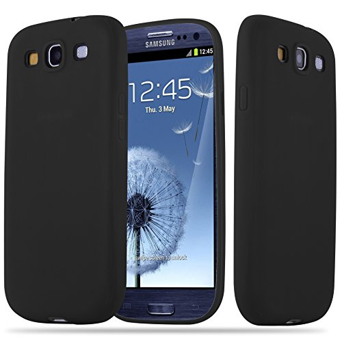 with Samsung Galaxy S3/S3 NEO in CANDY BLACK (Design CANDY) – Shockproof Scratch Resistant Gel Case Protective Shell Bumper Skin Back Cover ()