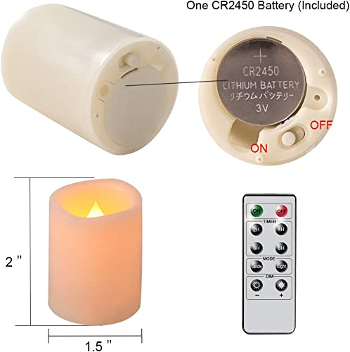 Eldnacele Flameless Flickering Votive Battery Operated Tealight Candles with Remote Control, Warm White Light Realistic Outdoor LED Candles Bulk Set of 12 for Parties Decoration Batteries Included