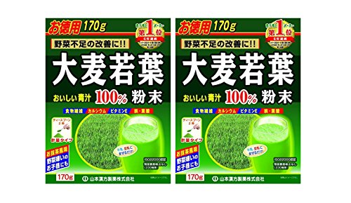 (Barley Young Leaves AOJIRU 100% | Powder | 170g [Japanese Import] ( set of 2 ))