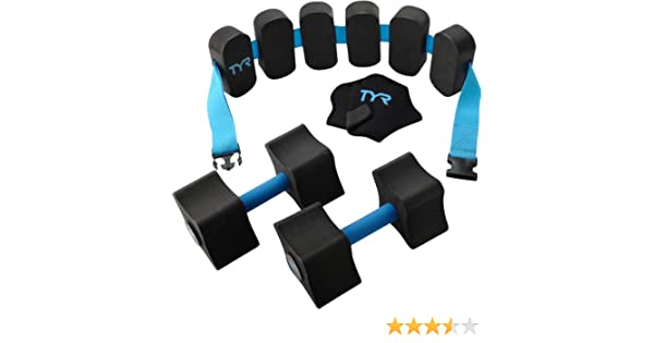 Amazon.com : TYR Aquatic Fitness Kit, Black/Blue : Swim Belts : Sports & Outdoors