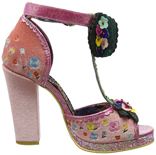Irregular Choice May Meadow - Sandalias de tobillo Mujer Rosa (Pink)