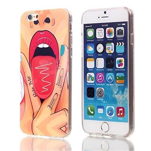 """iPhone 6 4.7"""" Coque , Apple iPhone 6 (4.7"""") Coque Lifetrut® [ Bite me ] [Coussin d'air] [Capsule] TPU souple ** NOUVEAU ** haut de gamme Flexible Fashion Color Design Sexy Motif Soft Style TPU Slim Co"""
