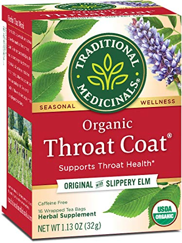 Traditional Medicinals Organic Throat Coat Seasonal Tea, 16 Tea Bags (Pack of 6) (The Best Over The Counter Medicine For Sore Throat)