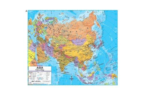 Universal Map 28788 Asia Advanced Political Deskpad Map Set by Universal Map